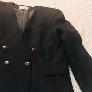Two piece vintage 100% wool suit